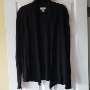 JCPENNEY Black Large Cardigan.  NWOT.